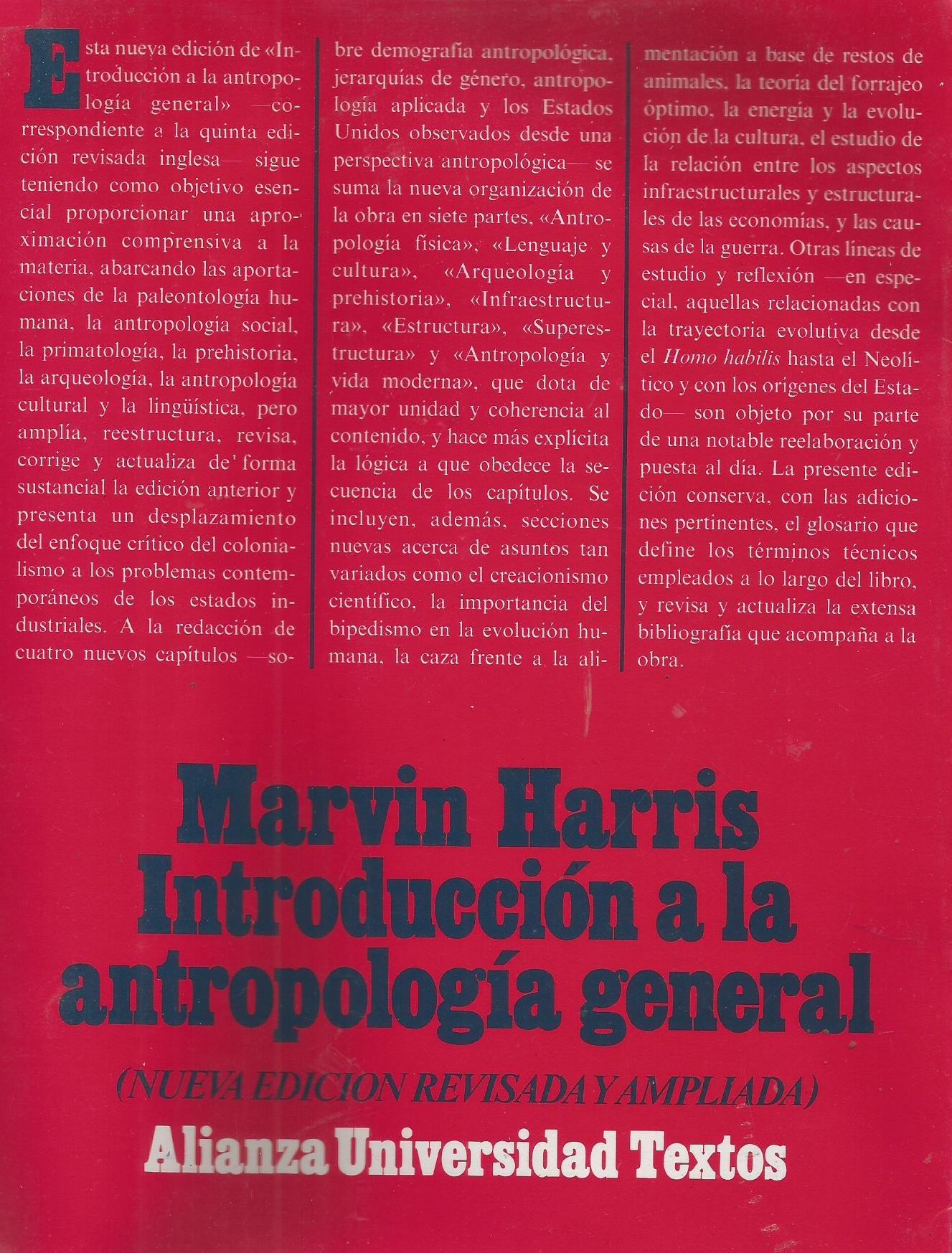 marvin harris - portada libro